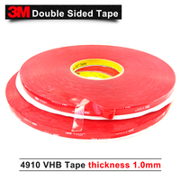 10MM*33M 5Roll/Lot 3M 4910 VHB tape Thickness 1MM, high temperature transparent acrylic foam tape