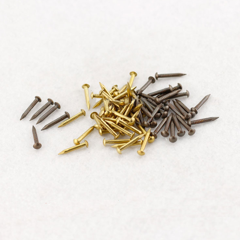 250g/bag 2*15/20/25mm Brass Screw Gold Decorative Nails for Furniture 25mm mens boys gold