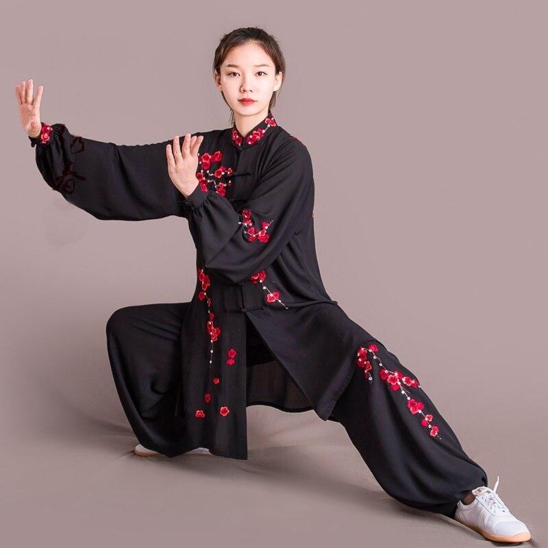 Tai chi uniforme del costume di lusso tai chi abbigliamento vestiti di kung fu di arti marziali uniforme taiji abbigliamento mattina esercizio DD1621