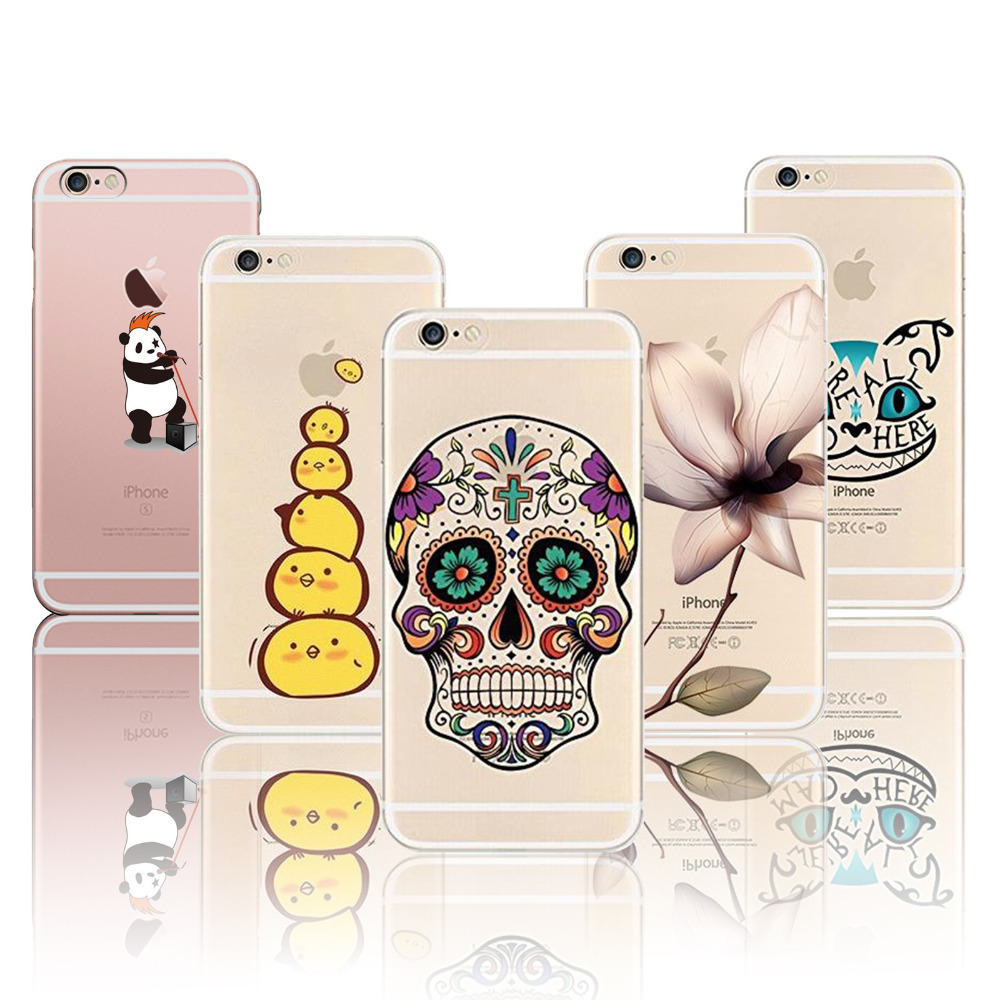 Cases For Apple iPhone 6 6s Case Soft Silicon TPU Romantic Flowers Christmas Animals Fruits Soft Silicon Phone Cover Shell Capa