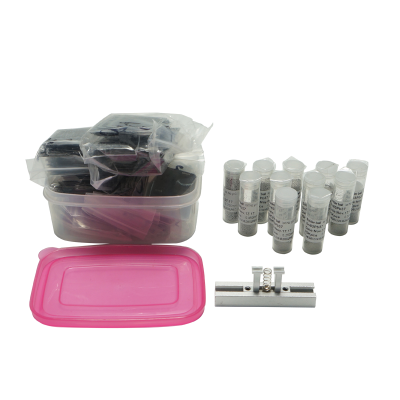 Directly BGA Reballing Stencil Kits 810pcs +BGA holder jig +leaded 11pcs 25K BGA Solder balls