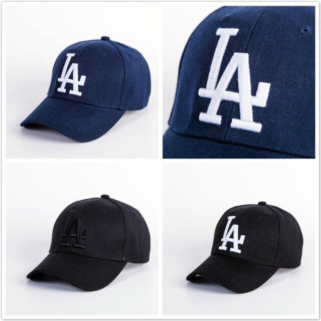 7b48c6eee570b 2018 nuevo Gorras de béisbol bordado LA gorra de Hip Hop gorra hueso  Snapback sombreros de