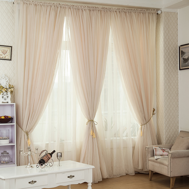 6 Colors Tulle Curtains Cortina Floral Window Voile Sheer Curtain For Bedroom Cafe Voile