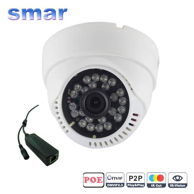 HD 720P 960P 1080P 1.0/1.3/2.0 Megapixel IP Camera PoE With 1080P Lens IR-Cut Filter PoE Cable Security Dome Camera CCTV Home