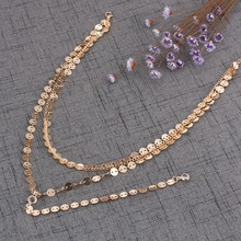 Layered Sequins Necklace