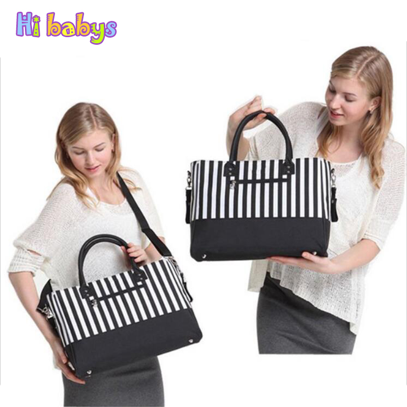 Stripe Organizer Baby Diaper Bags For Mom Changing Nappy Handbags Mother bag Baby Stroller Bags Multifunctional Maternity bag high quality cute dot baby diaper nappy bag maternity baby bags for mom multifunctional mother care bag durable stroller bag