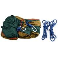 Portable Durable Nylon Fabric Hammock 2 People Hammock Camping Survival Garden Leisure Travel Double Person Outdoor