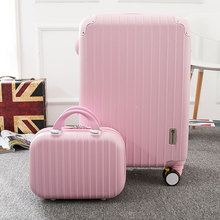 14 22inch girl lovely travel luggage bags set on universal brake wheels,high quality abs pc trolley luggage