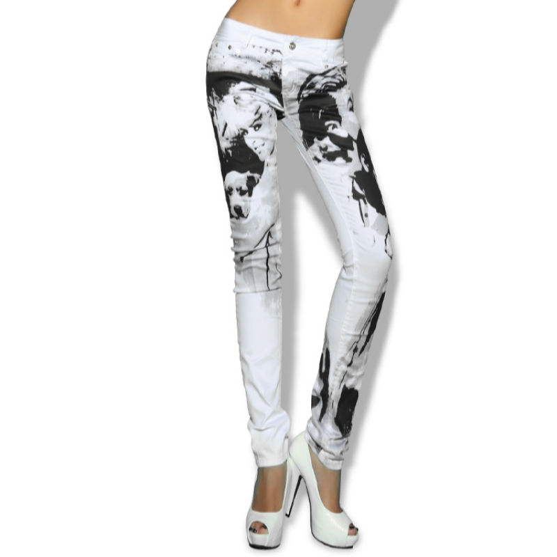 Scarni E Color Dei Matita Jeans L' Di 79397 Donne Primavera Graffiti Ragazze Marca Il 2019 Nuova Pantaloni Femminile Vestiti Formato Della Stretch Picture Più Delle Autunno Ea4nqnUw