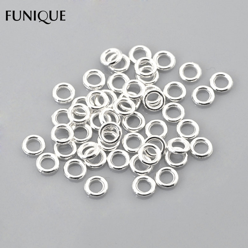 BE wholesale Hot Silver Plated Soldered Closed Split Rings  6mm