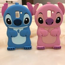 Phone Case For Samsung Galaxy J6 2018 Cases Cute 3D Cartoon Stitch Soft Silicone For Samsung J6 2018 J600F J600 SM-J600F Case(China)
