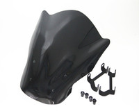 Motorcycle Black PC Windshield WindScreen For Y A M A H A MT 07 MT 07