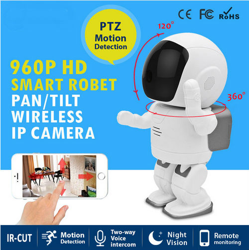 ФОТО Mini Robot IP Camera Wireless Wifi Pan/Tilt and Two Way Audio Recording Onvif Indoor surveillance WIFI Security Camera
