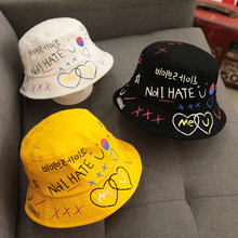 756254bb19c Children s Casual English Alphabet Sun Hat Baby Fisherman Hat Toddler Baby  Kids Boys Girls Bucket Hats