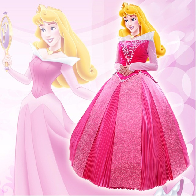 Custom Made Sleeping Beauty Aurora Princess Fancy Dress Adult ...