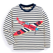 TTN 2017 Kids Clothes Girls Soft Long Sleeve T-shirt Cotton Striped Plane Tops Autumn  Children Clothing Fashion Chacarter Tops
