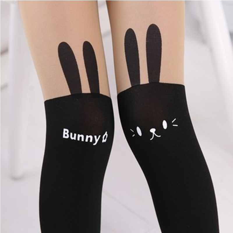 Velvet Children's Pantyhose Girls Stockings 100%Cotton Cartoon Stitching Dance Stockings Cartoon Character Bow Thin Stockings heart pattern side pantyhose stockings