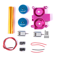 Worker Super E Parts Set for Nerf HyperFire/for Nerf Modulus Regulator Modification and Replacement(Diamond Pattern) Pink+Blue