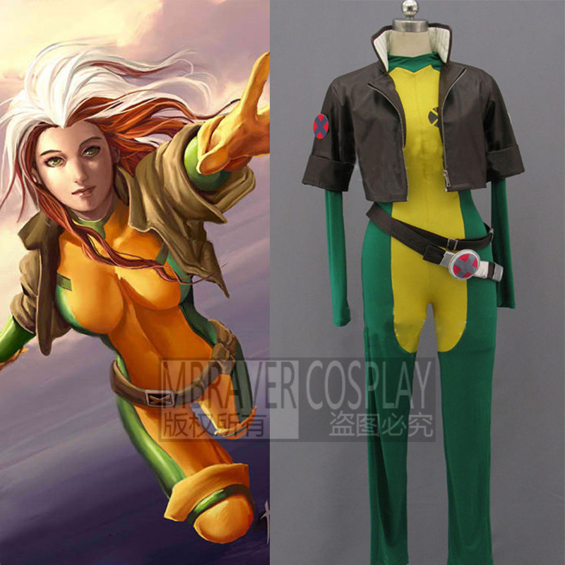 X-Men Rogue Costume Superhero Cosplay Costume For Women