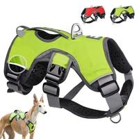 Perro mascota reflectante arnés accesorios perros Chaleco de entrenamiento para mascotas perros grandes ajustable arnés para exteriores perro de servicio Ves de nuevo