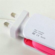 Universal 6 USB Port Smart Charger US EU UK Plug Led Display Quick Desktop Strip Power Adapter Socket For Mobile Phone Tablet PC