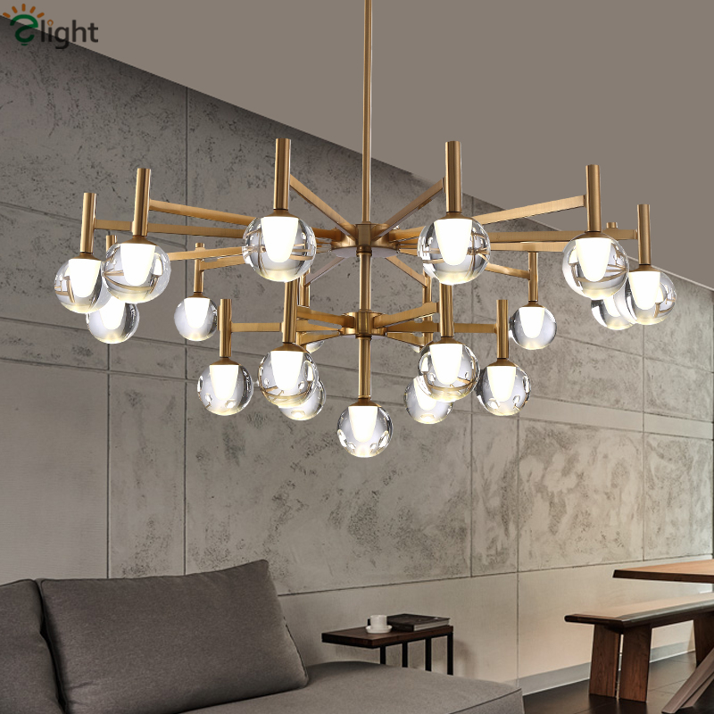 Unique Acrylic Ball Mushroom Lustre Plated Metal Led G9 Chandelier Living Room Luminaria Led Indoor Lighting Pendant Chandelier