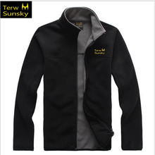 Free Shipping--2015 News Terwsunsky Spring Fleece Men/male Thin Outdoor Casual Outerwear Stand Collar Jackets TR018