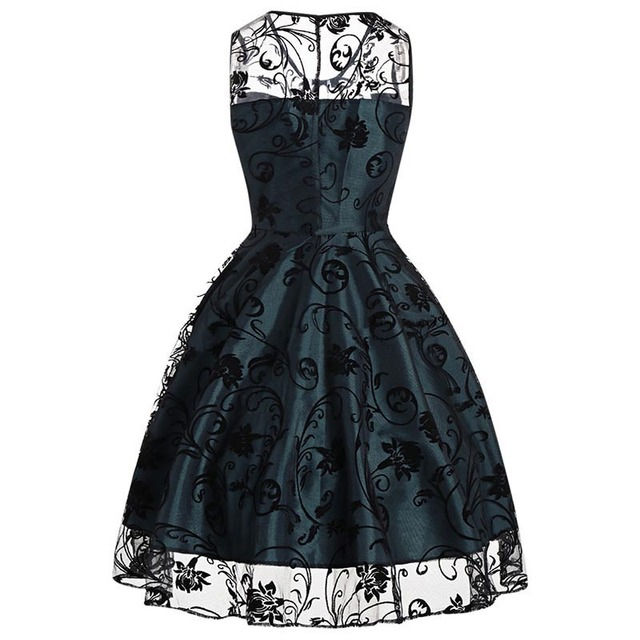 Sisjuly 2018 Summer Gothic Female Party Dress Goth Red Sexy Dresses Hollow Out A Line Green Dress Summer Strapless Retro Dresses 3