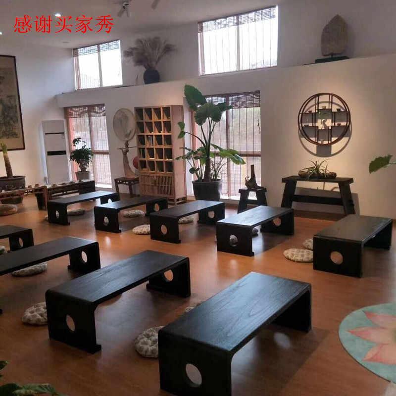Semplice Stile Giapponese In Legno Massello Semplice Tung Tavolo In Legno Tavolo Del Computer Baia Finestra Caffè Tavolo Retrò Cinese Da Tavolo Studente