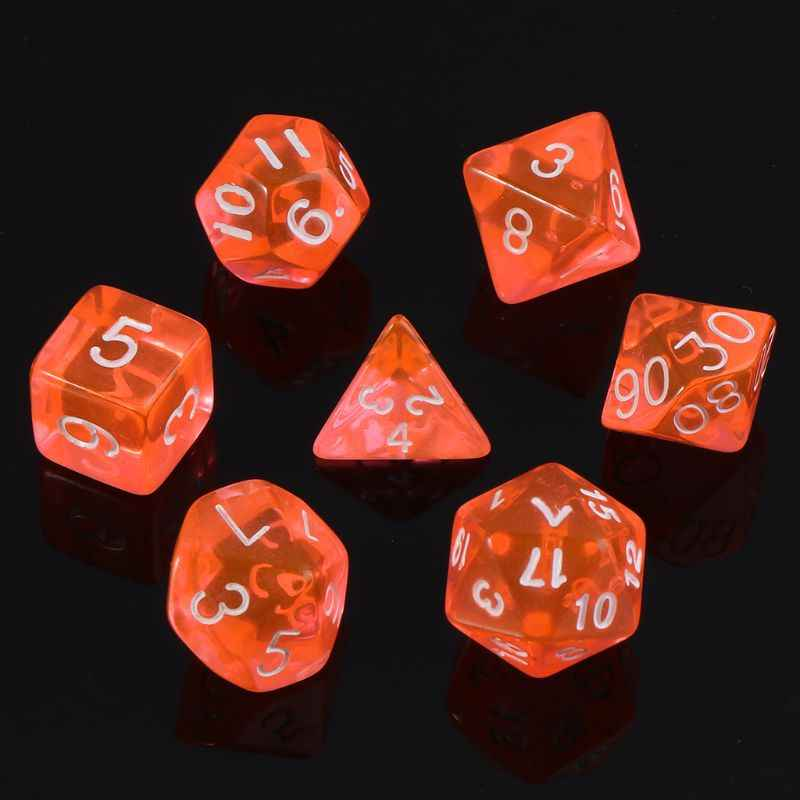 7 pçs/set Face Die D4 D6 D8 D10 D12 D20 D & D RPG DUNGEONS & DRAGONS Dice Game
