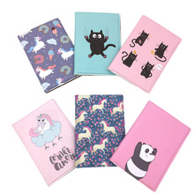 Unicorn Cat bear Leather Passport Cover for Women Travel Card Ticket Passport Holder Case Cute Animal Prints Covers for Passport