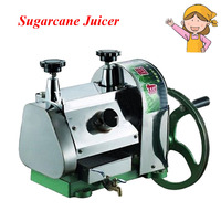Stainless Steel Manual Sugarcane Juicer Popular Commercial Movable Sugar Blender