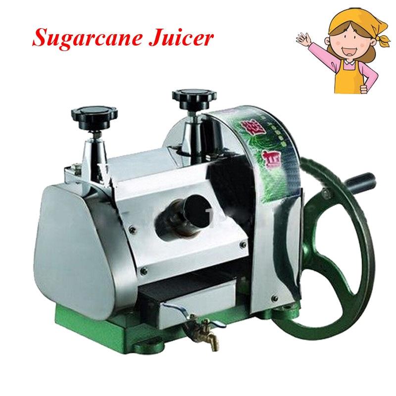 Stainless Steel Manual Sugarcane Juicer Popular Commercial Movable Sugar Blender