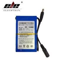 ELEOPTION DC12480 Litowo-jonowy DC 12 V 12.6 V 4800 mAh Super Akumulator Pack UE/US podłącz Adapter Do CCTV Kamery Wideo Recorde
