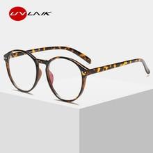 7e38c2ceaf UVLAIK claro óptico gafas de Marco de las mujeres de los hombres Vintage  redondo gafas Retro hecho a mano círculo lente transpar.