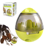 Dog Cat IQ Food Ball Toy Interactive Pet Toy Smarter Dogs Food Balls Treat Dispenser For