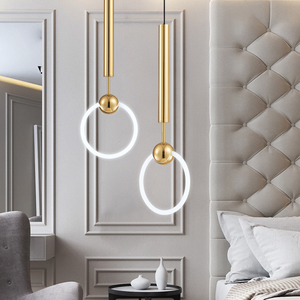 Image 1 - New Quality Simple Pendant light Modern Fashion White Lamps For Dining Room Restaurant Bedroom Living Room Office Bar Round