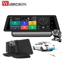 Novo 8.0 polegada IPS Toque 4g Carmera dvr Do GPS Do Carro Gravador de Vídeo Com 4g ADAS Traço cam Bluetooth 1080 p de Lente Dupla dvr Gps de Navegação