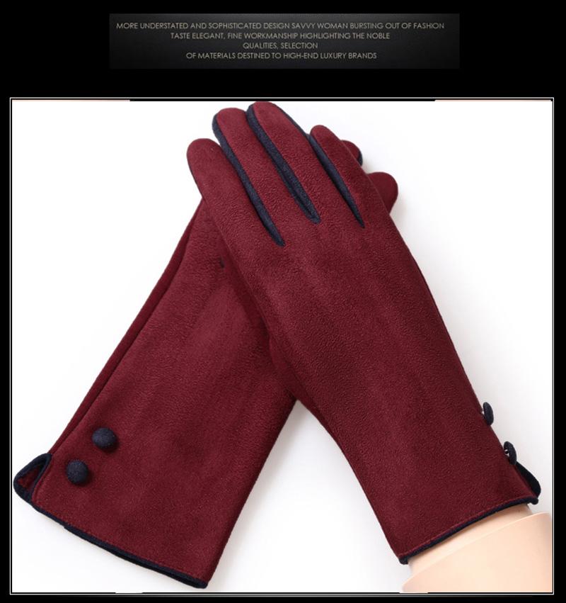 Gant mitaines mode élégante dames écran tactile