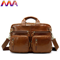 MVA Quality Genuine Leather Men Travel Bag Fashion Men`s Luggage Bag Newly Arrival Multi Function Leather Crossbody Bag