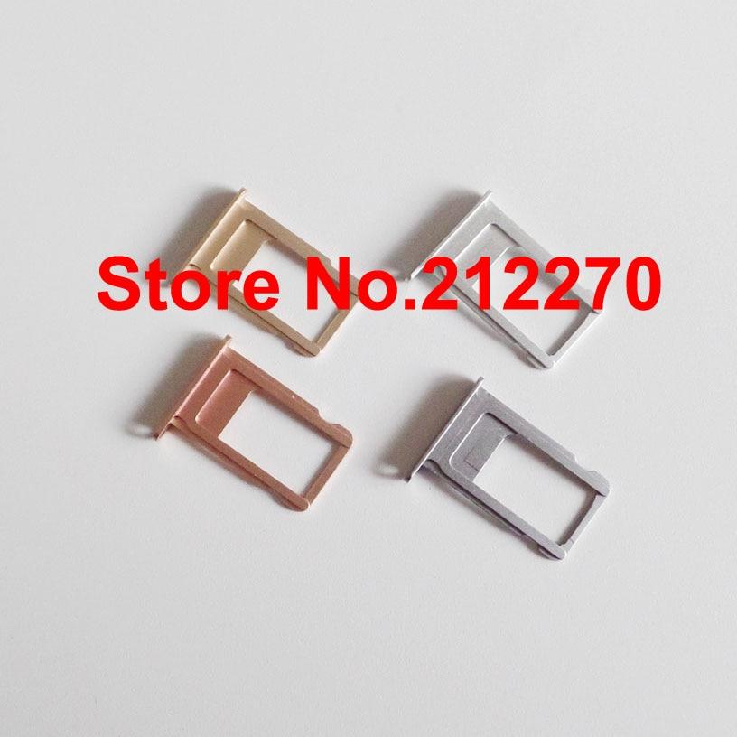 """imágenes para 100 unids/lote Original Nuevo Nano Bandeja de Tarjeta Sim Sostenedor de la Ranura de Repuesto Para el iphone 6 S 4.7 """"Oro/gris/Siver/Oro Rosa"""
