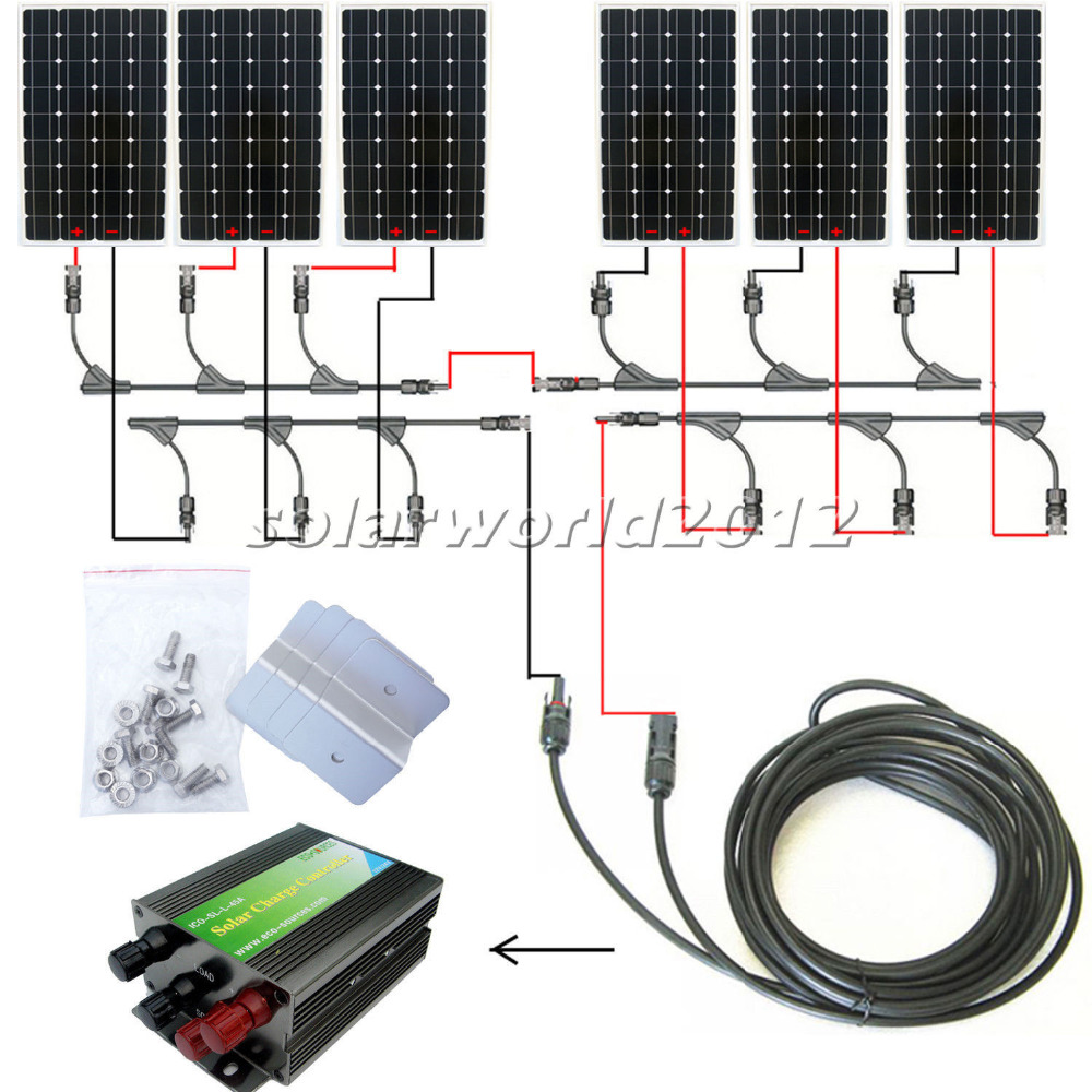 960Watts COMPLETE KIT: 6x150W mono PV Solar cell Panel 24V solar system RV Boat
