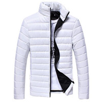 The North Of Boys Winter Mens Coats And Jackets Warm Stand Collar Slim Zip Coat Outwear
