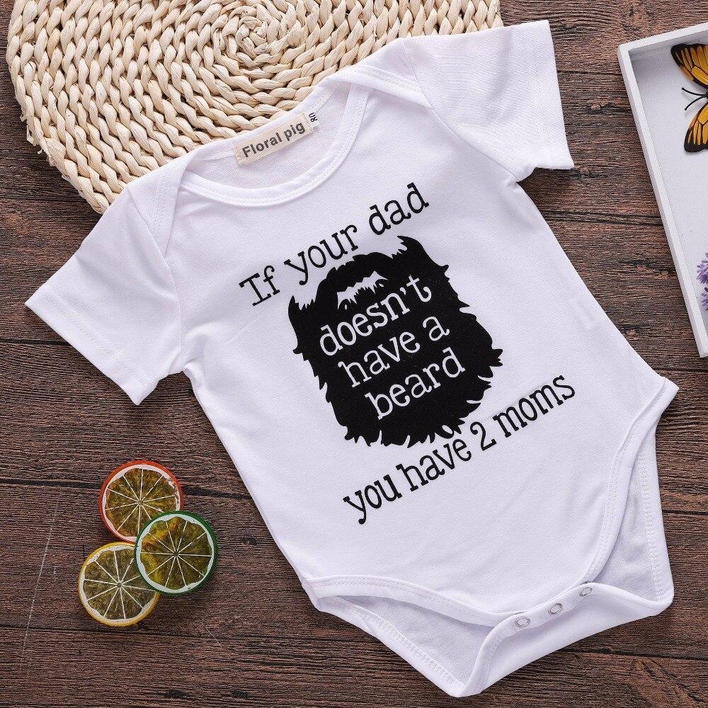 2018 мальчик боди Детский короткий рукав с принтом букв Детские белый комбинезон Love Your Daddy одежда для мамы и малыша летние белые боди Новый