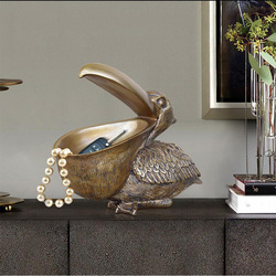 Joyas nórdicas Almacenamiento de llaves resina decoración de manualidades de pájaros grandes dormitorio sala de estar mesa de entrada de Oficina Decoración de adorno de tocán