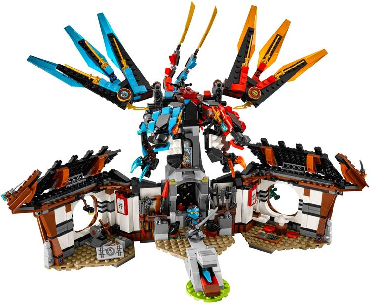ФОТО CHINA BRAND bricks toy Building Blocks Compatible with lego Dragon's Forge 70627