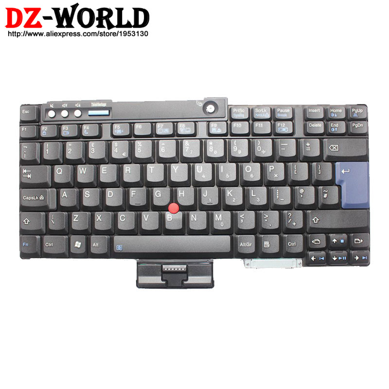 Initiative New Original For Lenovo Thinkpad T60 T60p T61 T61p T400 T500 W500 Keyboard Uk English Teclado 42t3167 42t3233 42t3297 42t3133 To Have Both The Quality Of Tenacity And Hardness Laptop Accessories