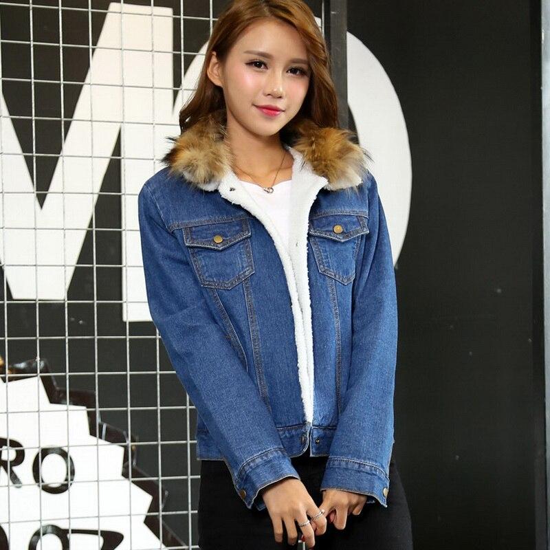 Femminile Cappotti have Casual Lana Signore Manica Collar Collar Donne Per 2018 Lunga Autunno Calde Jeans Cappotto No Slim Real Di Fur Giacche Fit D'agnello Le A6xxwzBq