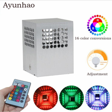 3W round hole colorful wall lamp AC85-265V Aluminum alloy for KTV Background Wall Light Game Room Bar Decoration Lamp