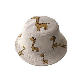 Cartoon Giraffe Printed Sun Hat for Kids 6